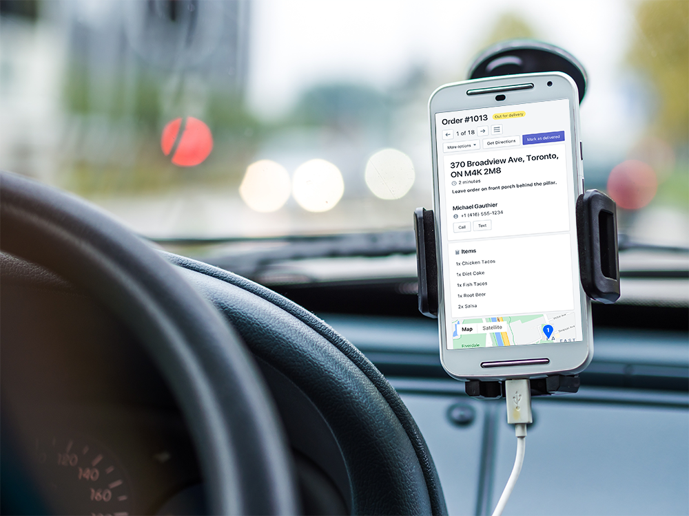 EasyRoutes mobile-friendly Driver View