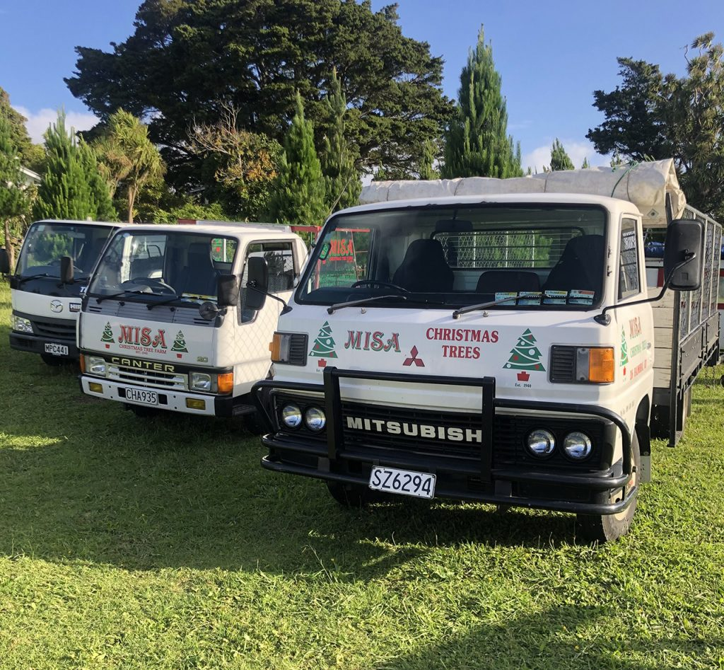 Misa Christmas Trees delivery vehicles